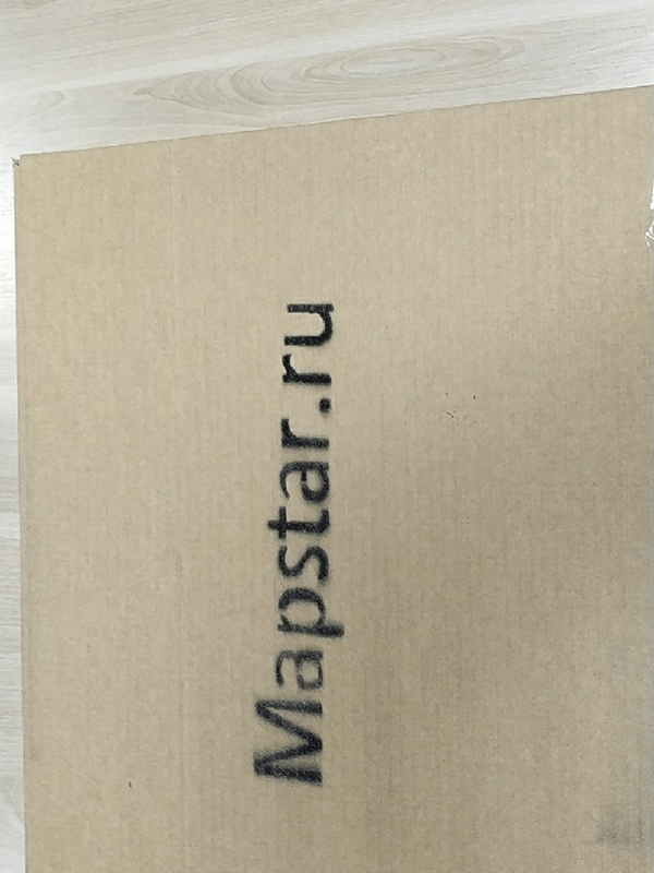 mapstar.space - packing a star card in a cardboard box